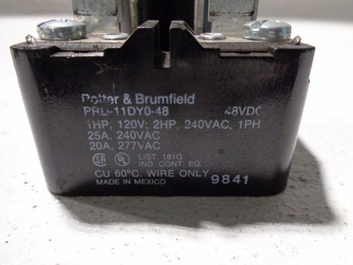 LOT OF (7) AMF POTTER & BRUMFIELD POWER RELAY PRD-111DY0-48