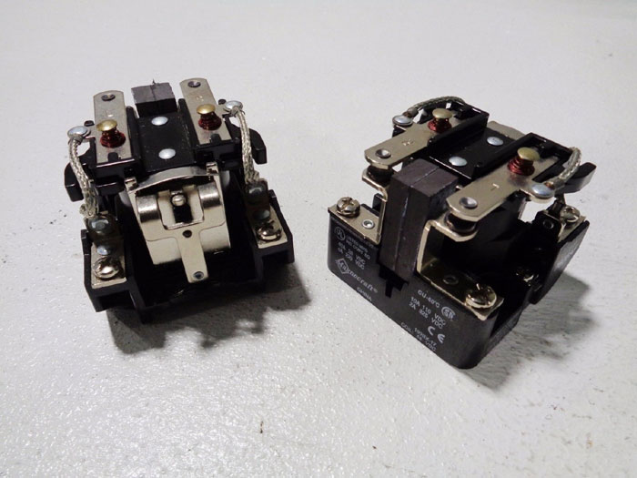 LOT OF (2) MAGNECRAFT POWER RELAYS #199BX-17