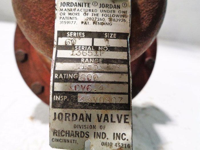"""JORDAN 1"""" SLIDING GATE PRESSURE REGULATOR MODEL 68 or MODEL 60"""