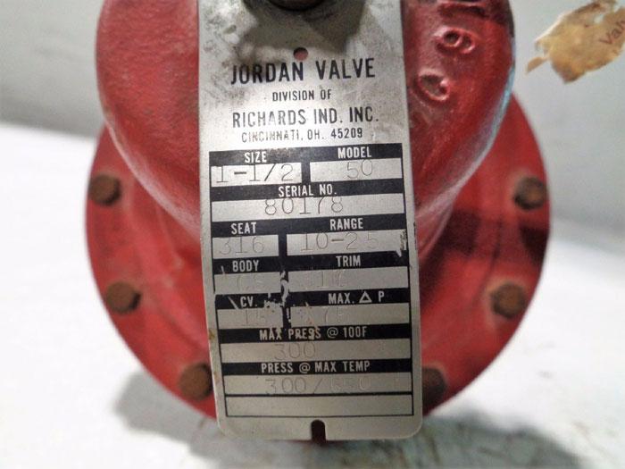 "JORDAN SLIDING GATE PRESSURE REGULATOR DUCTILE IRON 1-1/2"" MODEL 50"