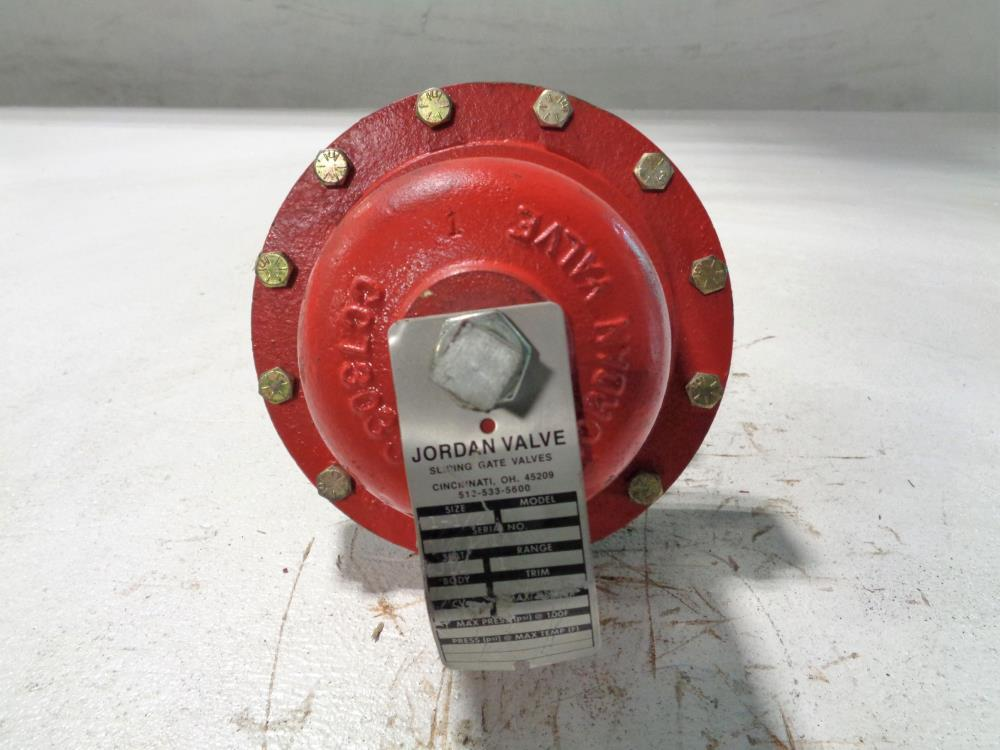 "JORDAN SLIDING GATE PRESSURE REGULATOR 1-1/2"" DUCTILE IRON MODEL 50"