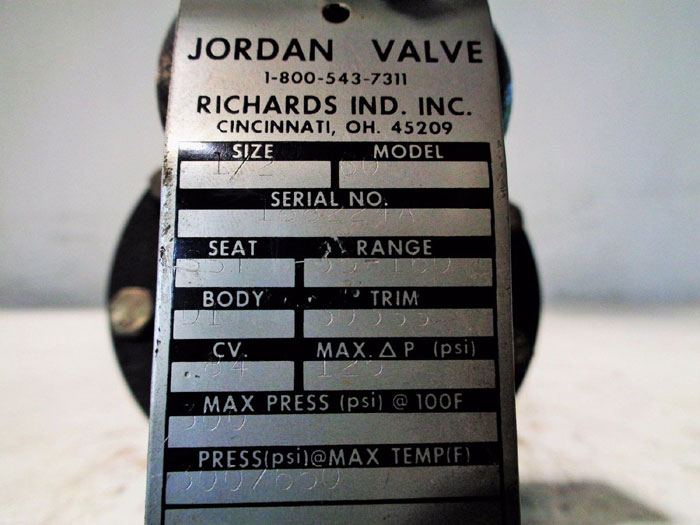"""JORDAN SLIDING GATE PRESSURE REGULATOR 1/2"""" MODEL 60"""