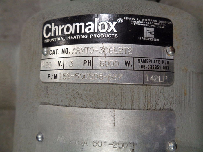 CHROMALOX IMMERSION HEATER 3-ELEMENT CAT# ARMTO-306E2T2 P/N 156-500506-687
