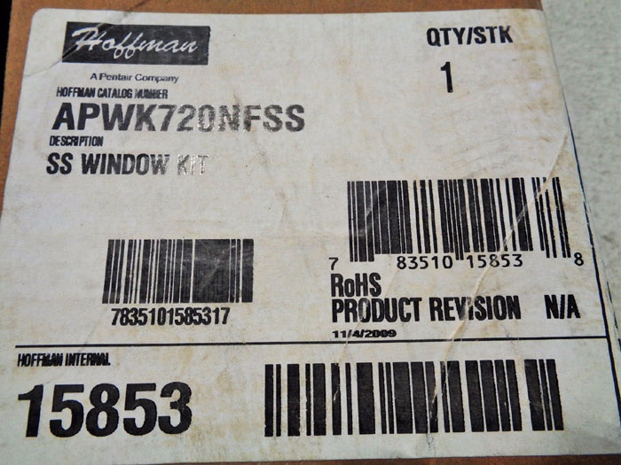 HOFFMAN STAINLESS STEEL WINDOW KIT - MODEL APWK720NFSS