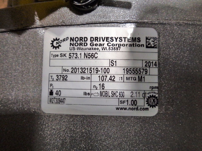 NORD DRIVESYSTEMS GEAR REDUCER - TYPE SK 573.1  N56C