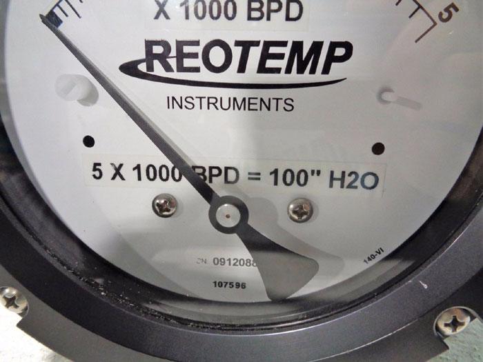 REOTEMP MODEL 42 DELTA METER - DIFFERENTIAL PRESSURE GAUGE