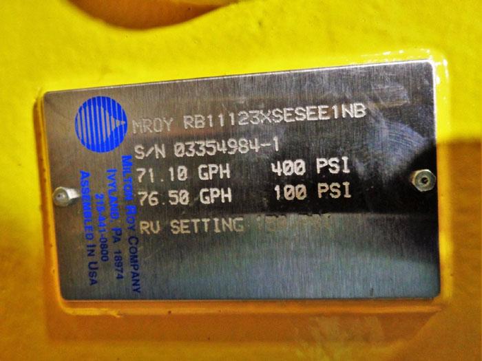 MILTON ROY HYDRAULIC DIAPHRAGM METERING PUMP RB11123XSESEE1NB