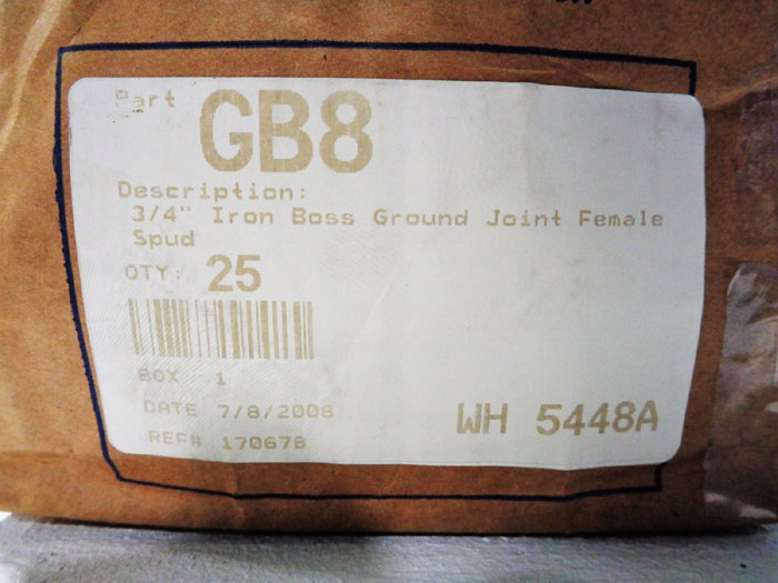 "DIXON GB8 3/4"" BOSS GROUND JOINT FEMALE SPUD HOSE COUPLINGS - LOT OF (30)"