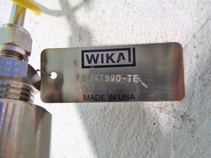 "WIKA ALL TEMP THERMOWELL 2"" 150# 304SS TYPE K FLANGED TAPERED TC10/TCW10"
