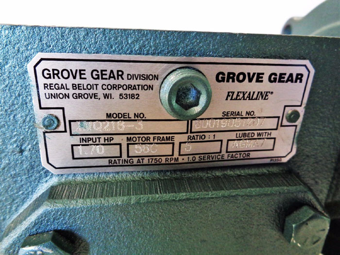 GROVE GEAR FLEXALINE GEAR REDUCER TMQ218-3