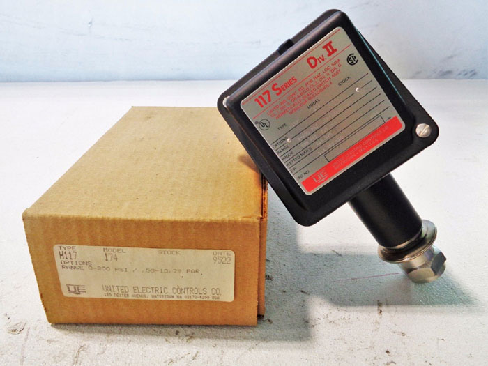UNITED ELECTRIC PRESSURE SWITCH H117-174