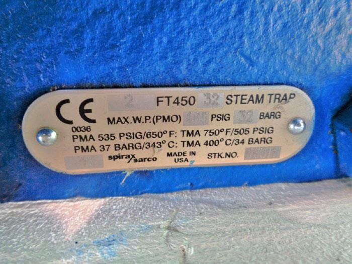 """SPIRAX SARCO 2"""" STEAM TRAP FT450 32"""