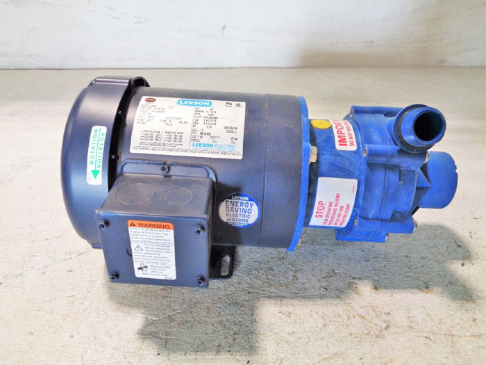 "SERFILCO SERIES M 1-1/2"" X 1"" MAGNETIC COUPLED PUMP P-51-6331 F W/ LEESON MOTOR"