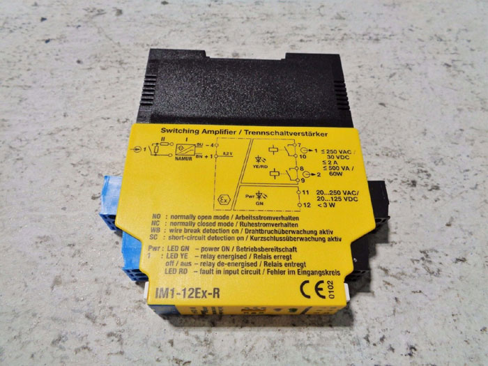 TURCK ISOLATING SWITCHING AMPLIFIER INTERFACE MODULE IM1-12Ex-R