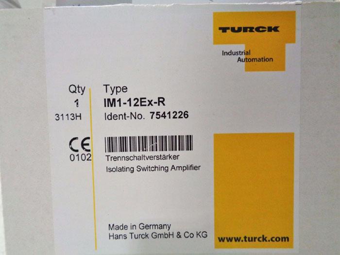 TURCK ISOLATING SWITCHING AMPLIFIER INTERFACE MODULE IM1-12Ex-R