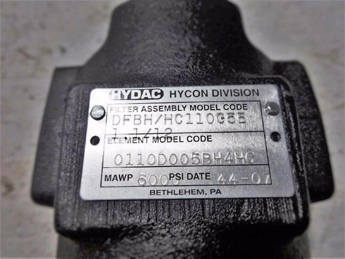 HYDAC HYDRAULIC FILTER ASSEMBLY DFBH/HC110G5B1.1/12