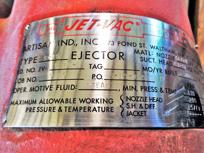 JET-VAC TYPE S-40 STEAM JET EJECTOR 4""