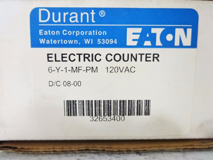 EATON ELECTRIC 6-DIGIT COUNTER 6-Y-1-MF-PMU