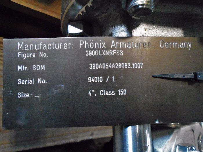 "PHONIX ARMATUREN 4"" 150# GLOBE VALVE FIG#: 390GLXNRFSS, MFR#: 390A054A26082.1007"