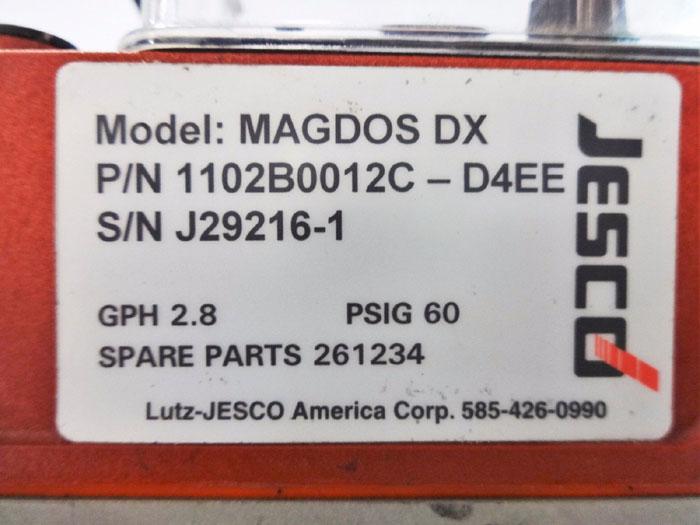 LUTZ JESCO MAGDOS DX DIAPHRAGM DOSING PUMP 1102B0012C-D4EE