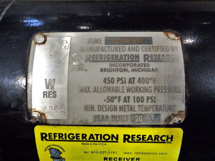 REFRIGERATION RESEARCH RECEIVER P/N: 3259