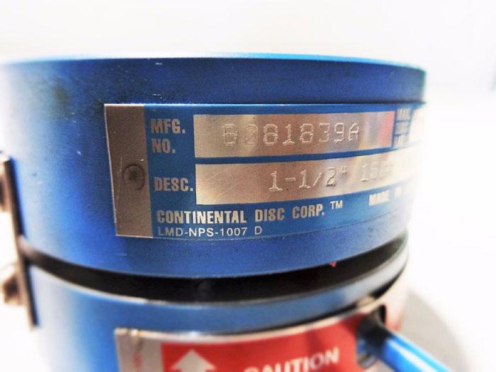 "CONTINENTAL DISC LMD-NPS-1007 D 1-1/2"" 150# J-HOOK RUPTURE DISC HOLDER 8081839A"