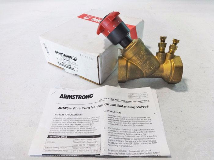 "ARMSTRONG 1-1/2"" ARMFLO VENTURI CIRCUIT BALANCING VALVE CBV150VT 571109-344"