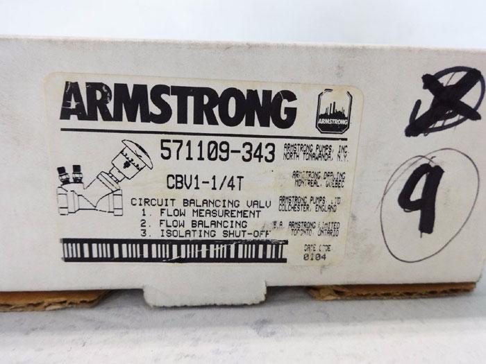 """ARMSTRONG 1-1/4"""" ARMFLO VENTURI CIRCUIT BALANCING VALVE CBV1-1/4T 571109-343"""