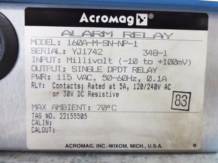 ACROMAG ALARM RELAY 160A-M-SN-NP-1