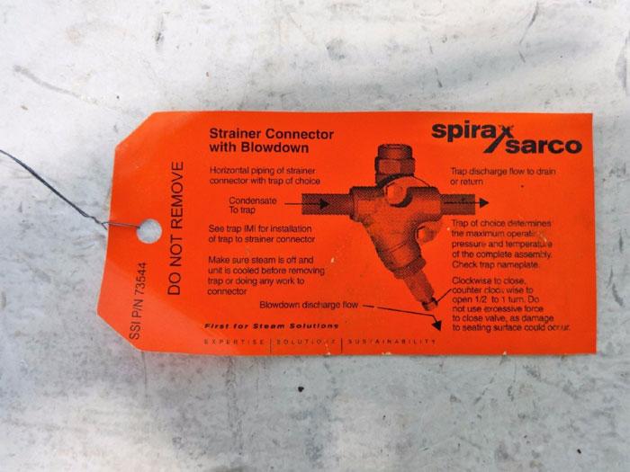"SPIRAX SARCO 1"" SOCKET WELD STRAINER CONNECTOR WITH BLOWDOWN 67996"