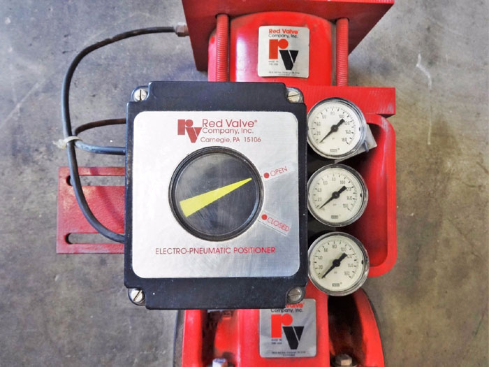 """RED VALVE 1.5"""" CONTROL PINCH VALVE WITH ELECTRO-PNEUMATIC POSITIONER SERIES 5200"""