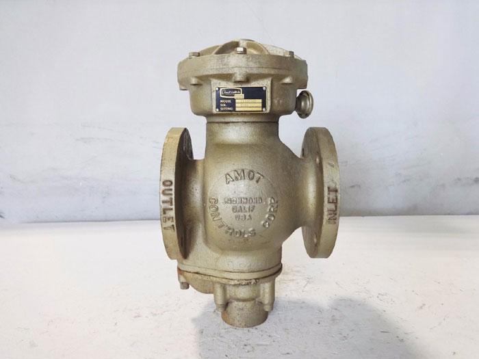 "AMOT CONTROLS 1-1/2"" DIAPHRAGM OPERATED CAST IRON GAS VALVE MODEL 2180C021"
