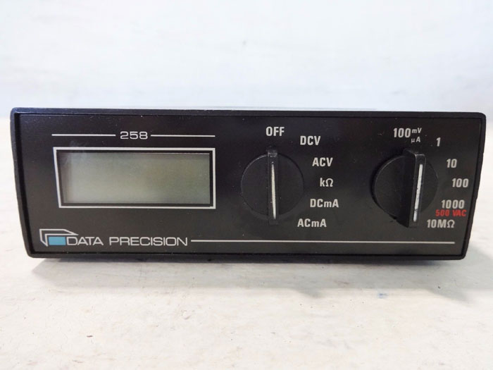 LOT OF (3) DATA PRECISION 258 MULTIMETERS