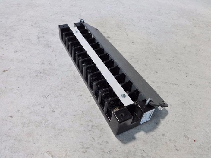LOT OF (4) MARATHON 600V 75A DUAL ROW TERMINAL BLOCK 1612 H