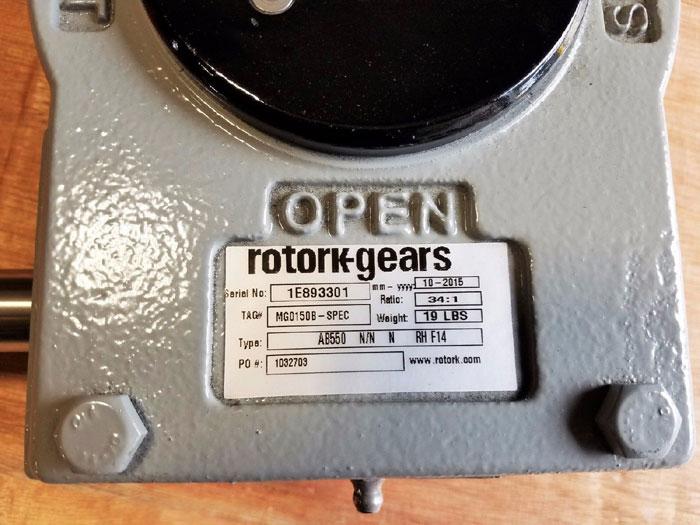 ROTORK QUARTER TURN MANUAL GEARBOX AB550 N/N N RH F14
