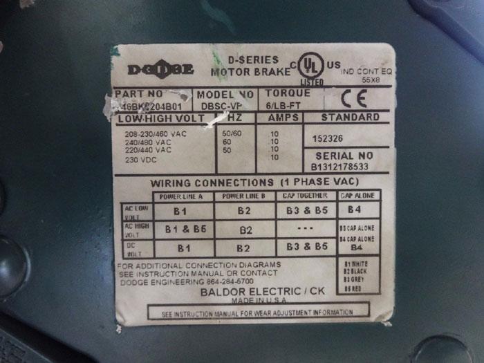 baldor brake wiring diagram dodge brake dbsc vp w baldor reliance motor vbm3546t d  dodge brake dbsc vp w baldor reliance