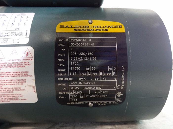 DODGE BRAKE DBSC-VP W/ BALDOR RELIANCE MOTOR VBM3546T-D