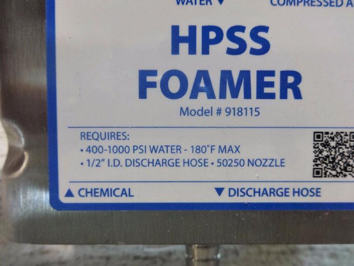 LAFFERTY EQUIPMENT HPSS FOAMER 918115