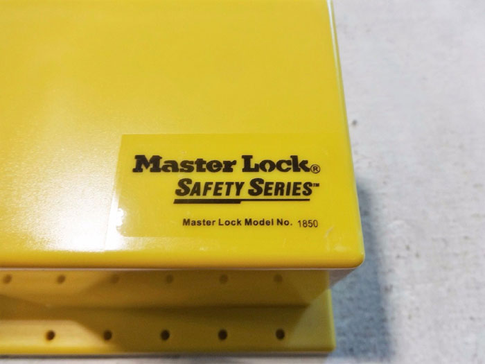 LOT OF (3) MASTER LOCK LOCKOUT STATION S1850 & DELUXE TAG STATION S1800