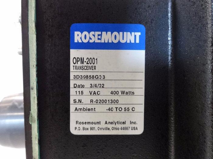 ROSEMOUNT OPACITY DUST DENSITY TRANSMITTER OPM-2001