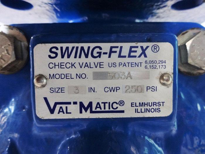 "VAL-MATIC 3"" SWING-FLEX CHECK VALVE 503A"