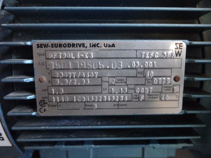 SEW-EURODRIVE SNUGGLER PARALLEL SHAFT HELICAL GEAR REDUCER FAF87D268DT90L6-KS