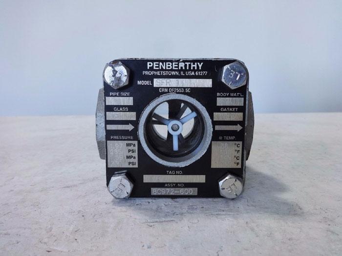 "PENBERTHY 1"" SIGHT FLOW INDICATOR W/ ROTATOR SFR 1"