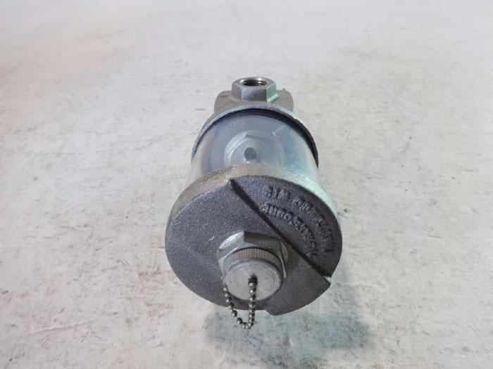 LOT OF (2) OIL-RITE 9 oz. CONSTANT LEVEL LUBRICATOR W/ OIL LEVEL SIGHT