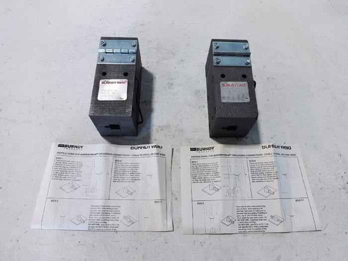 LOT OF (2) BURNDY WELD MOLD CONNECTORS TYPE# BCS-1 MOLD B-647 ITEM# 10048658