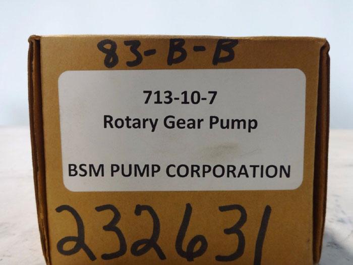 BSM PUMP CORP. ROTARY GEAR PUMP 713-10-7