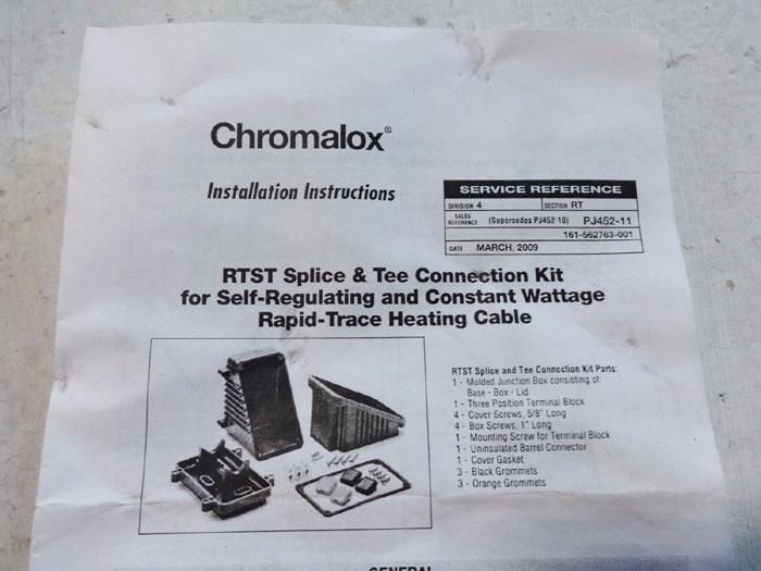 LOT OF (2) CHROMALOX RTST SPLICE & TEE CONNECTION KITS 389562