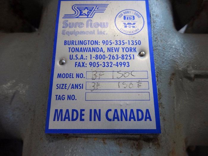 "SURE FLOW 3"" 150# WCB FLANGED BASKET STRAINER BF 150C"