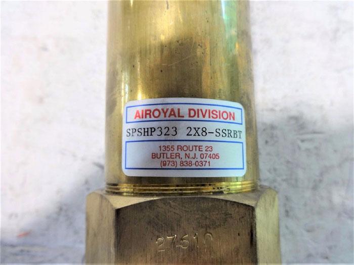 """AIROYAL 2"""" X 8"""" HYDRAULIC CYLINDER SPSHP323 2X8-SSRBT"""