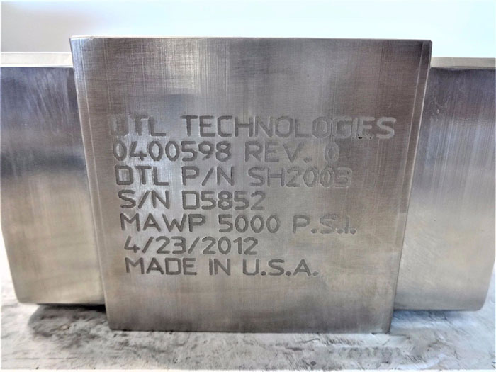 """DTL TECHNOLOGIES 1/2"""" SHUTTLE VALVE SH2003"""